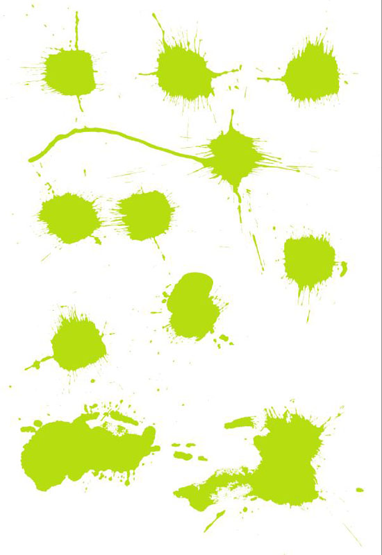 free vector Color Splashes
