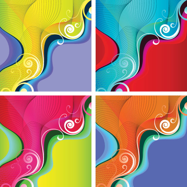 free vector Color trend pattern vector