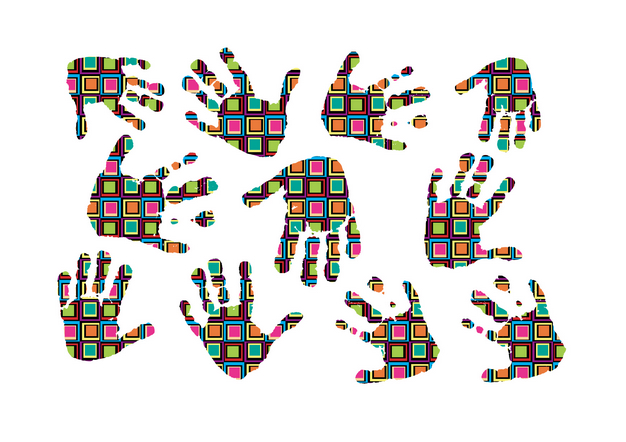 free vector Color vector fashion fingerprints