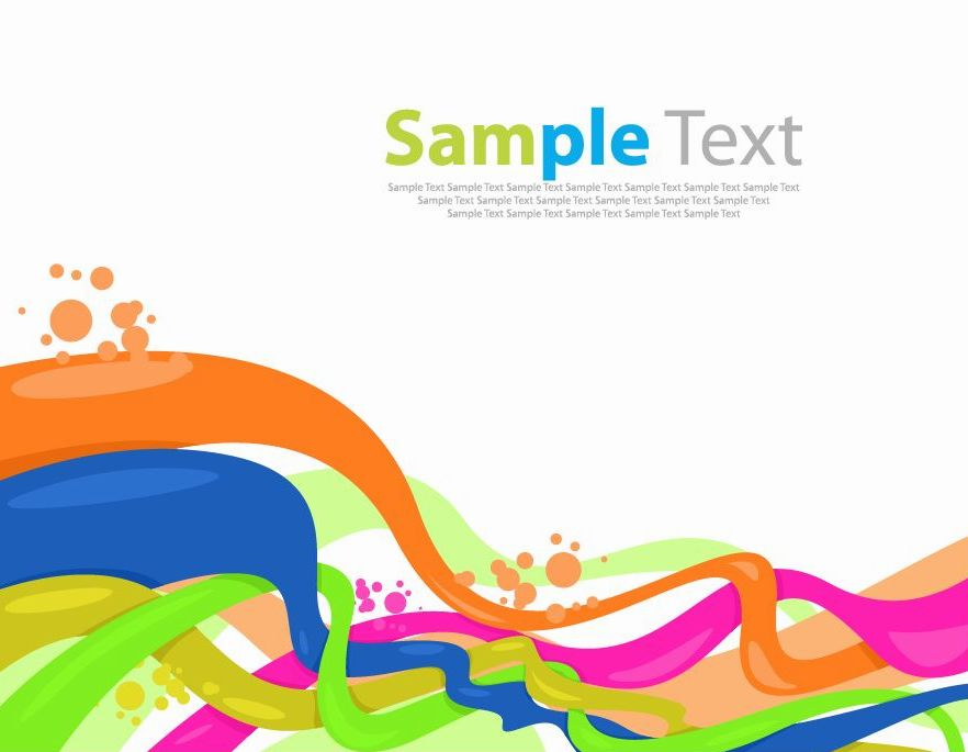 free vector Color Wave Vector Background