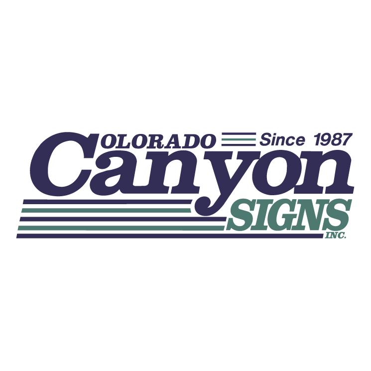 free vector Colorado canyon signs inc