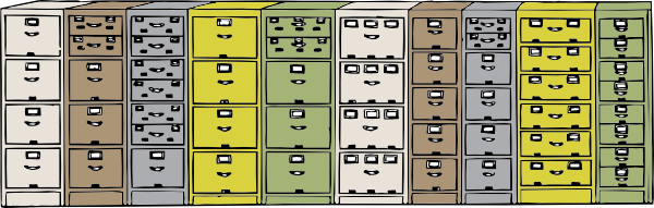 free vector Colored Filing Cabinets clip art