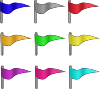 free vector Colored Flags clip art