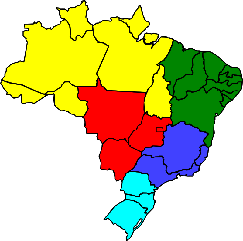 free vector Colored map of Brazil