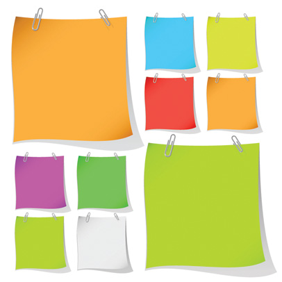 free vector Colored paper notes vector