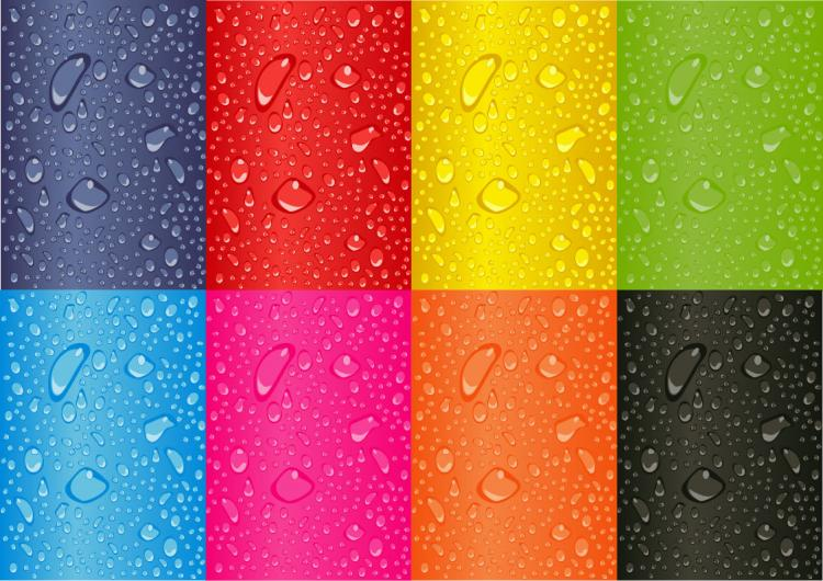 free vector Colored Water Droplets Vector