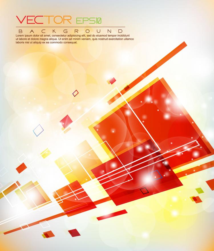 free vector Colorful abstract elements 09 vector