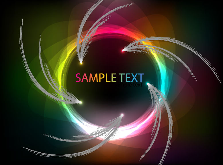 free vector Colorful Abstract Vector Art