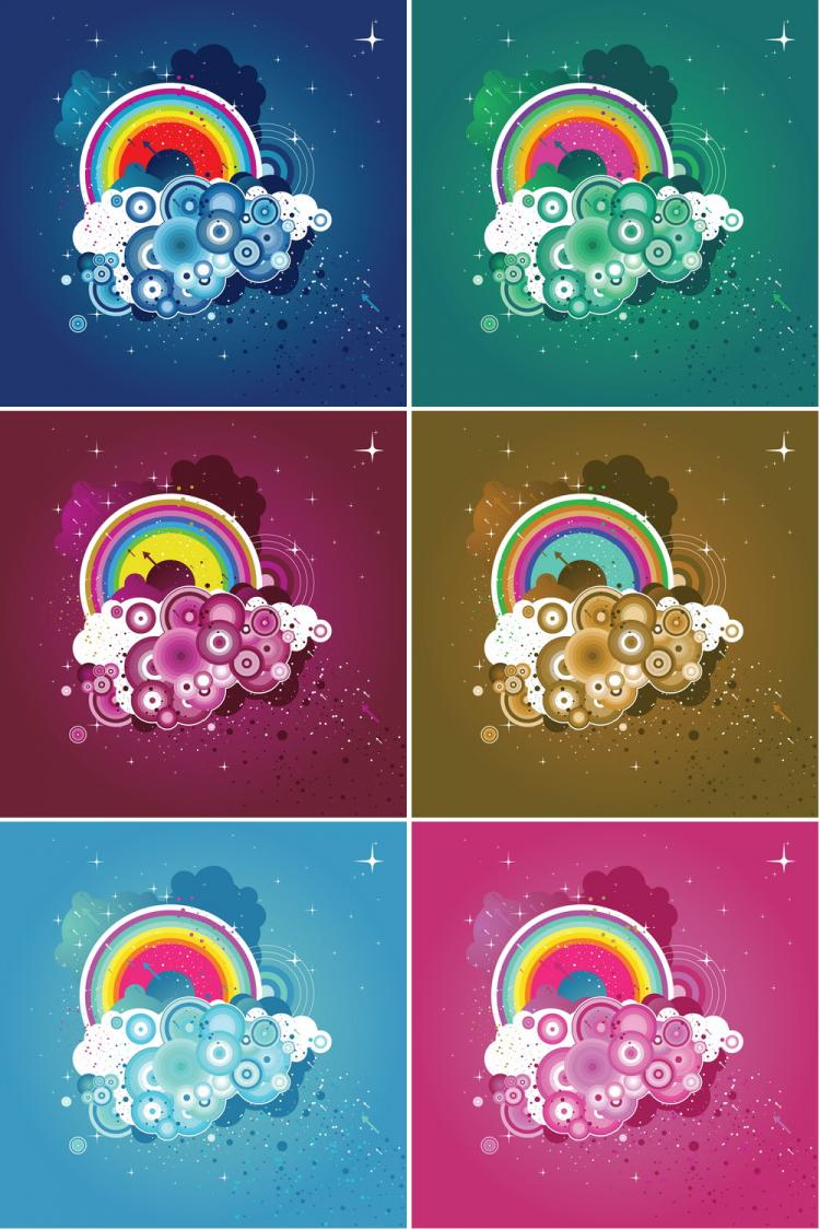 Colorful Abstract Pictures Colorful Abstract Free Vector