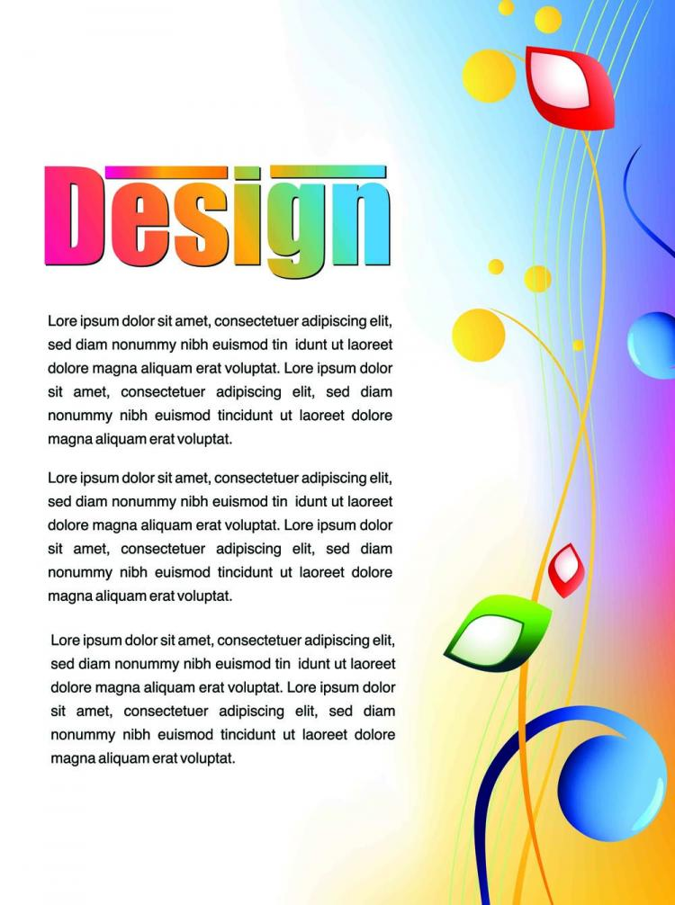 free vector Colorful advertising posters 02 vector