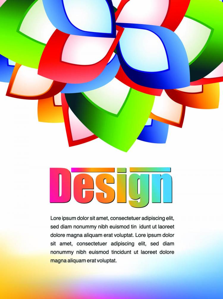 free vector Colorful advertising posters 03 vector