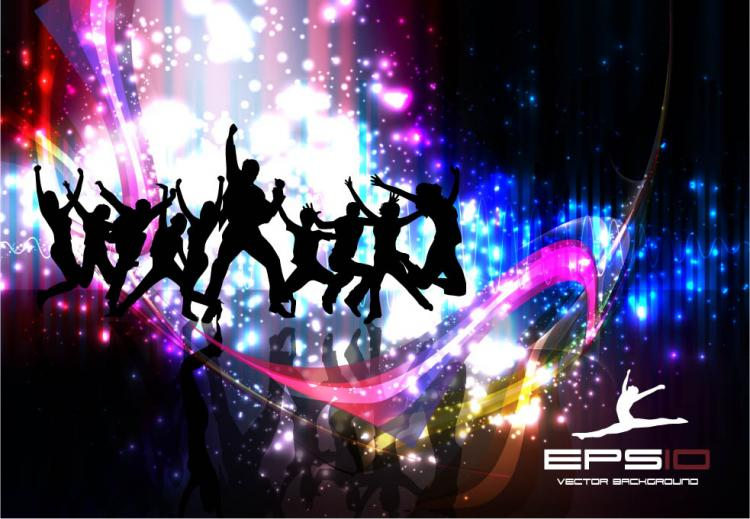 free vector Colorful background dance