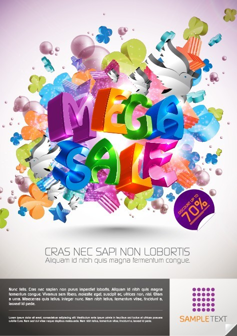 free vector Colorful background vector decorative design promotional
