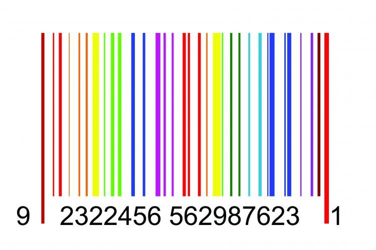 free vector Colorful barcode graphics vector