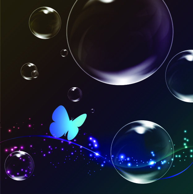 free vector Colorful bubble background 05 vector