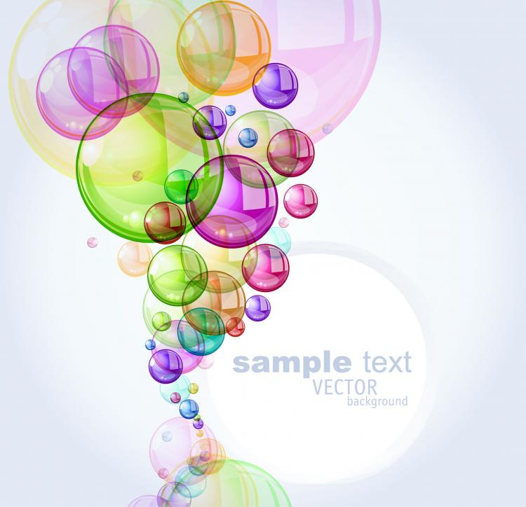 free vector Colorful bubbles background 01 vector