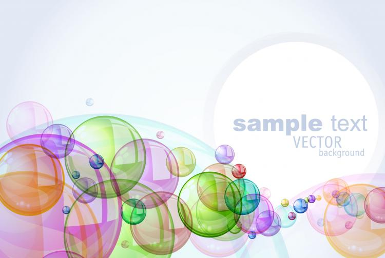 free vector Colorful bubbles background 03 vector