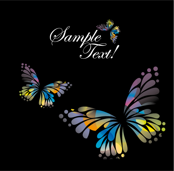 free vector Colorful butterflies vector