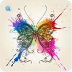 free vector Colorful butterfly theme vector