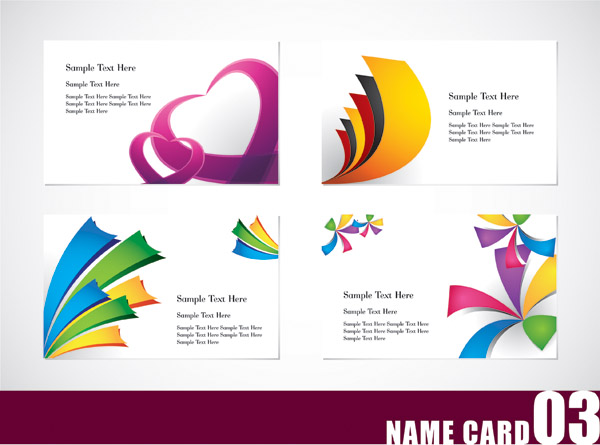 free vector Colorful card template vector