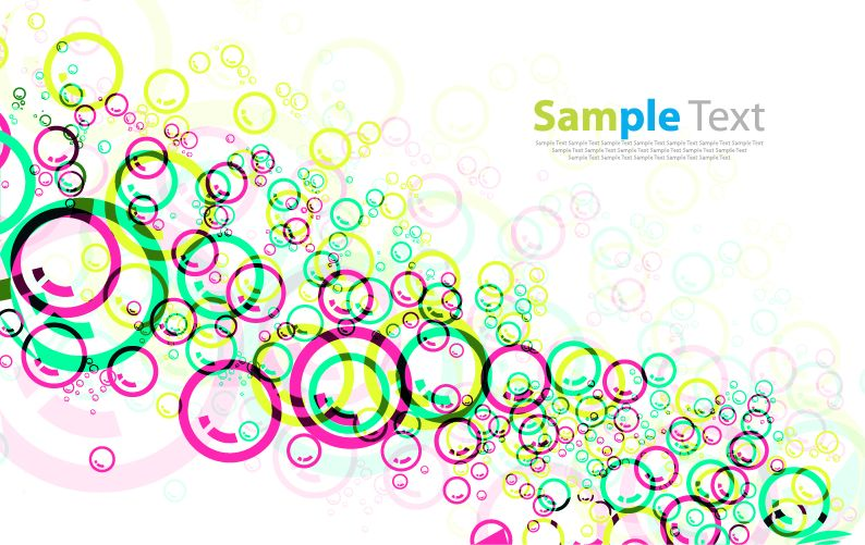 free vector Colorful Circles Vector Background