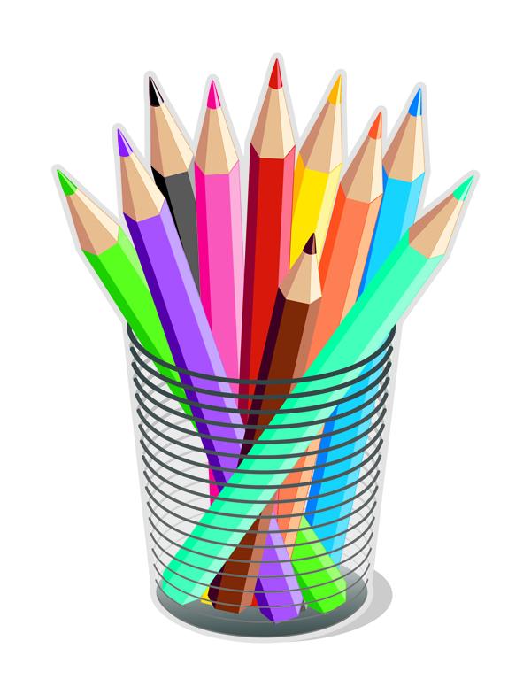 free vector Colorful color pencil vector