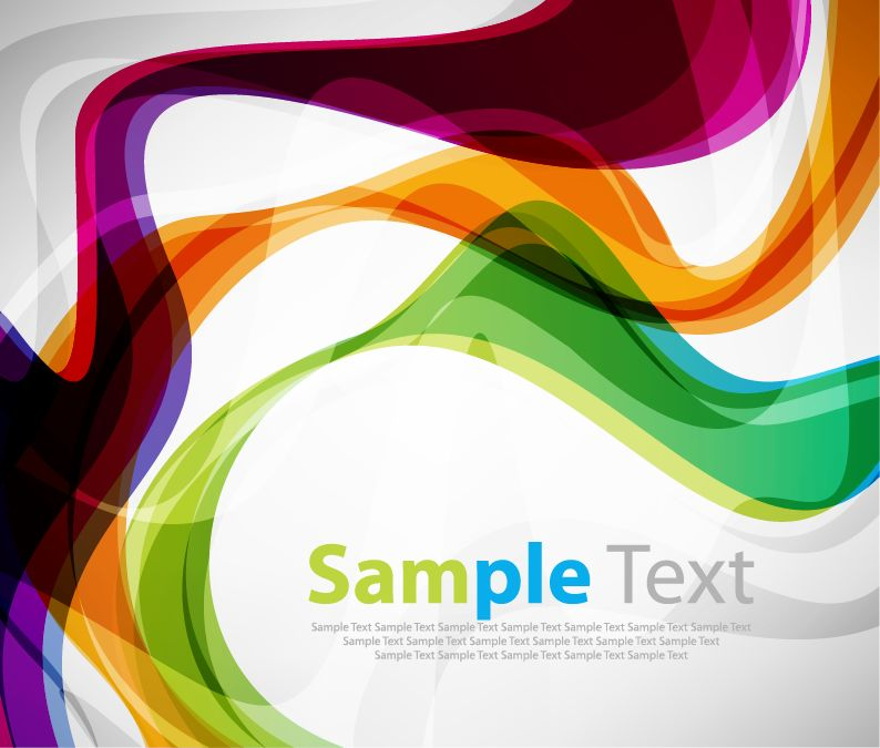 free vector Colorful Curve Vector Background