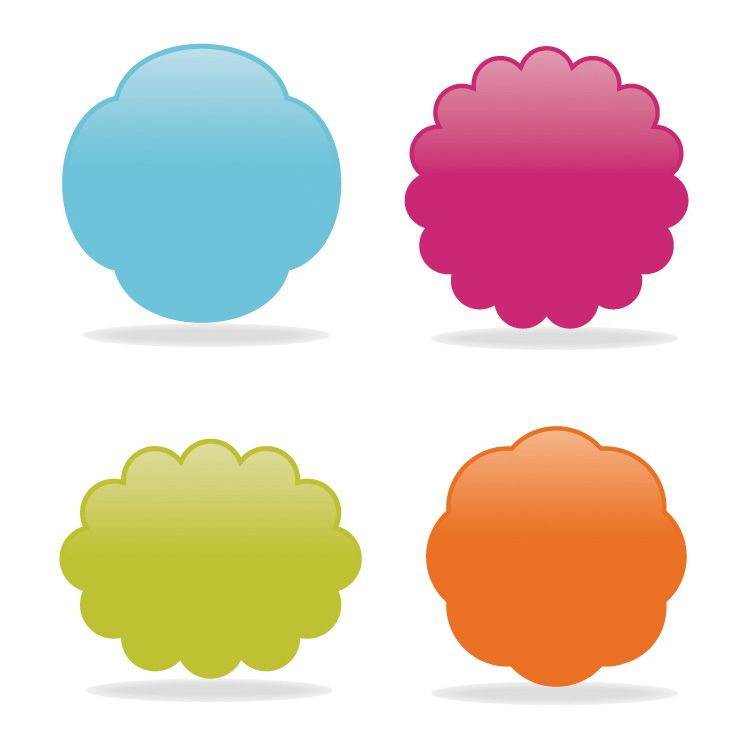 free vector Colorful decorative elements vector web20 website