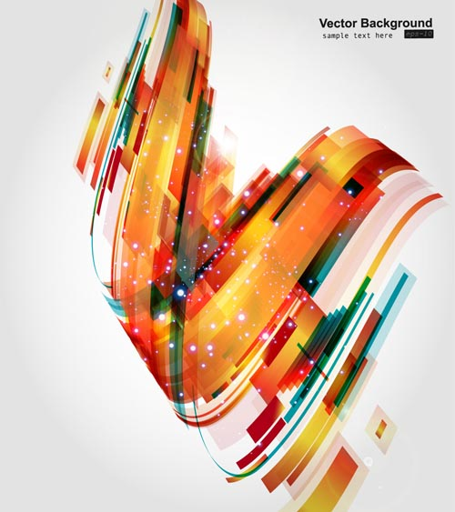 free vector Colorful dynamic graphics vector