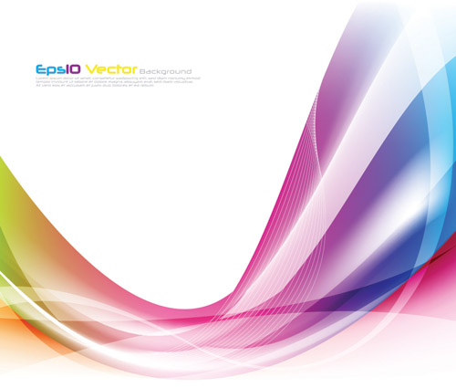 free vector Colorful dynamic lines of the vector