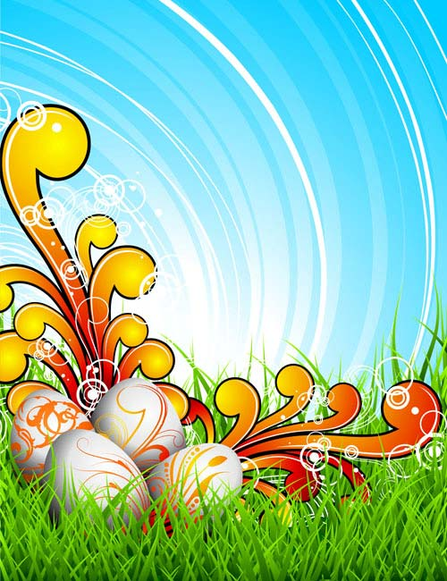 free vector Colorful easter background 03 vector