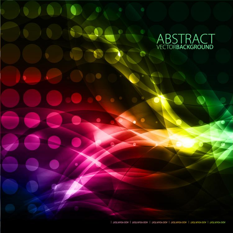 free vector Colorful fashion background 01 vector