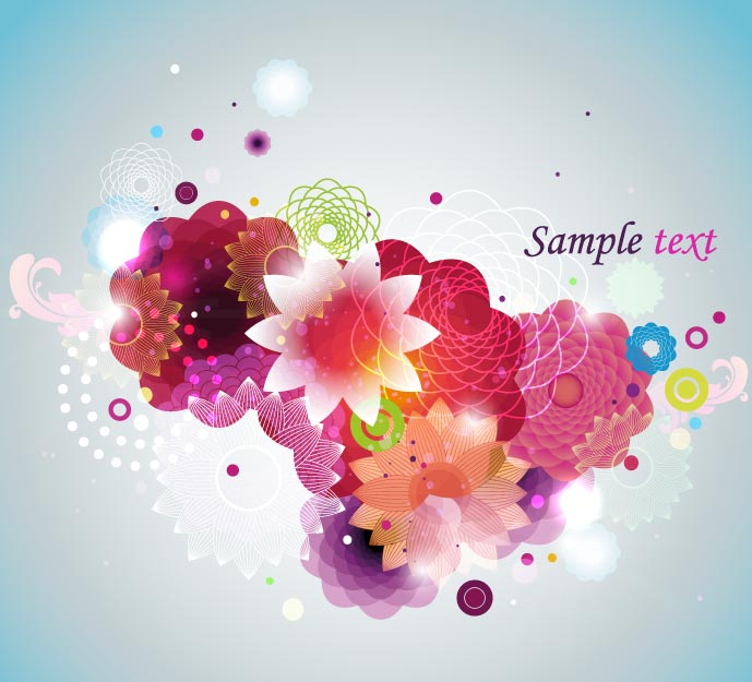 free vector Colorful fashion pattern 01 vector