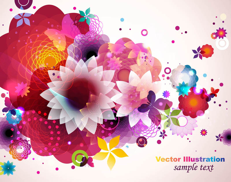 free vector Colorful fashion pattern 03 vector