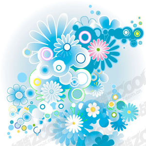 free vector Colorful flower pattern vector material