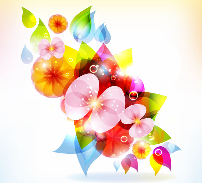 free vector Colorful Flower Vector Colorful Flower Vectors Floral Vector Flower Vector