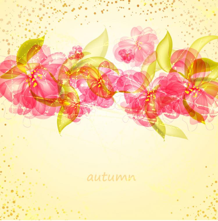 free vector Colorful flowers background 01 vector