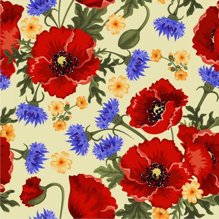 free vector Colorful flowers background 02 vector
