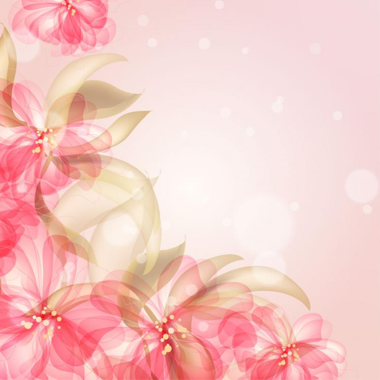 free vector Colorful flowers background 03 vector 20514