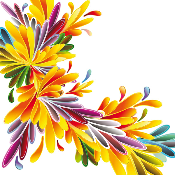 free vector Colorful flowers vector background 20613