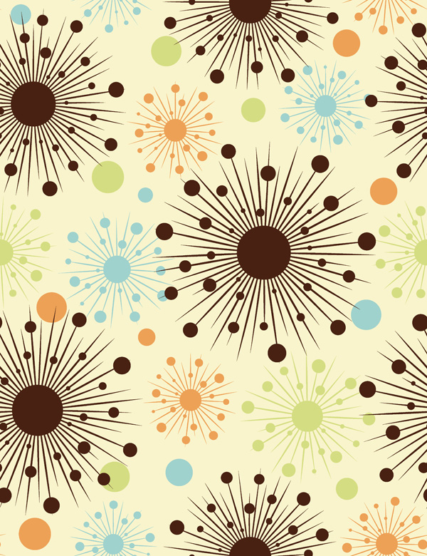 free vector Colorful flowers vector background 20619