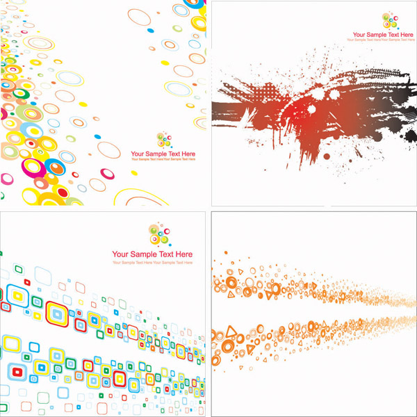 free vector Colorful graphics background vector fashion