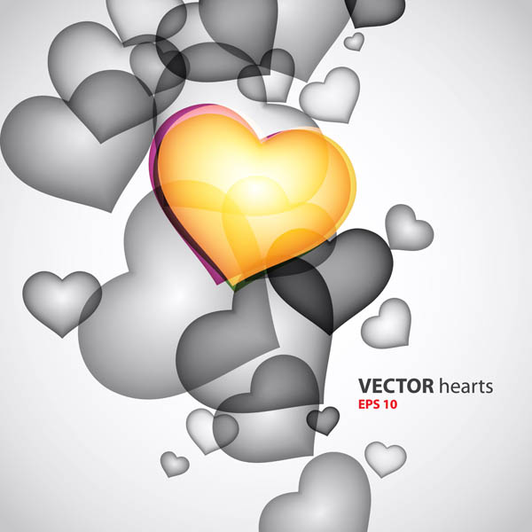 free vector Colorful heartshaped graphics vector