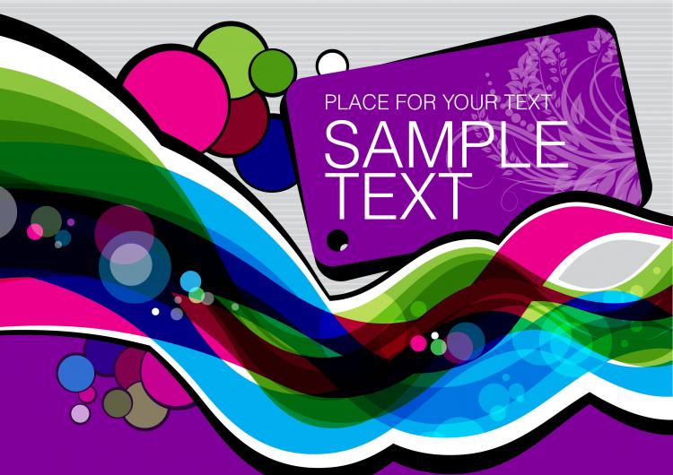 free vector Colorful illustration background 05 vector