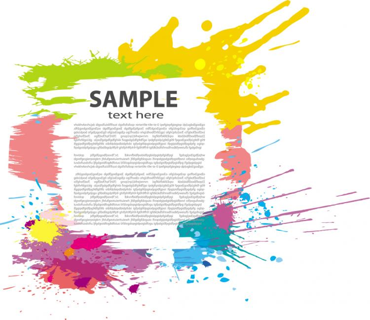 free vector Colorful ink border vector