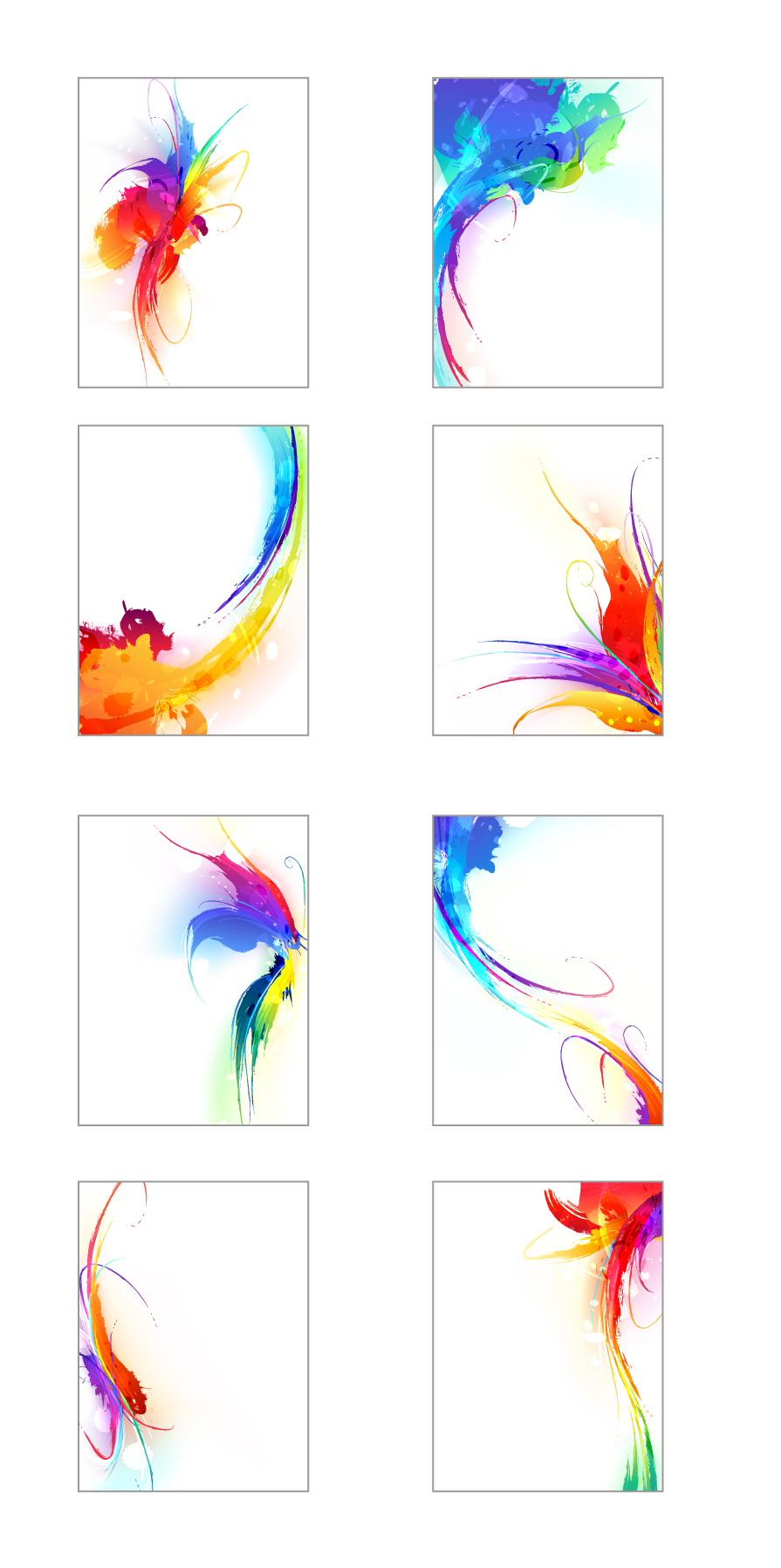 free vector Colorful ink vector 2 results