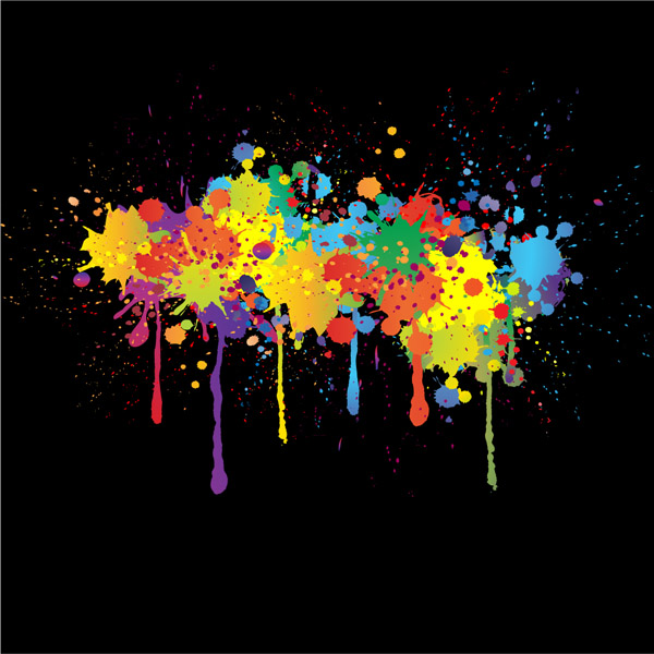 free vector Colorful ink vector
