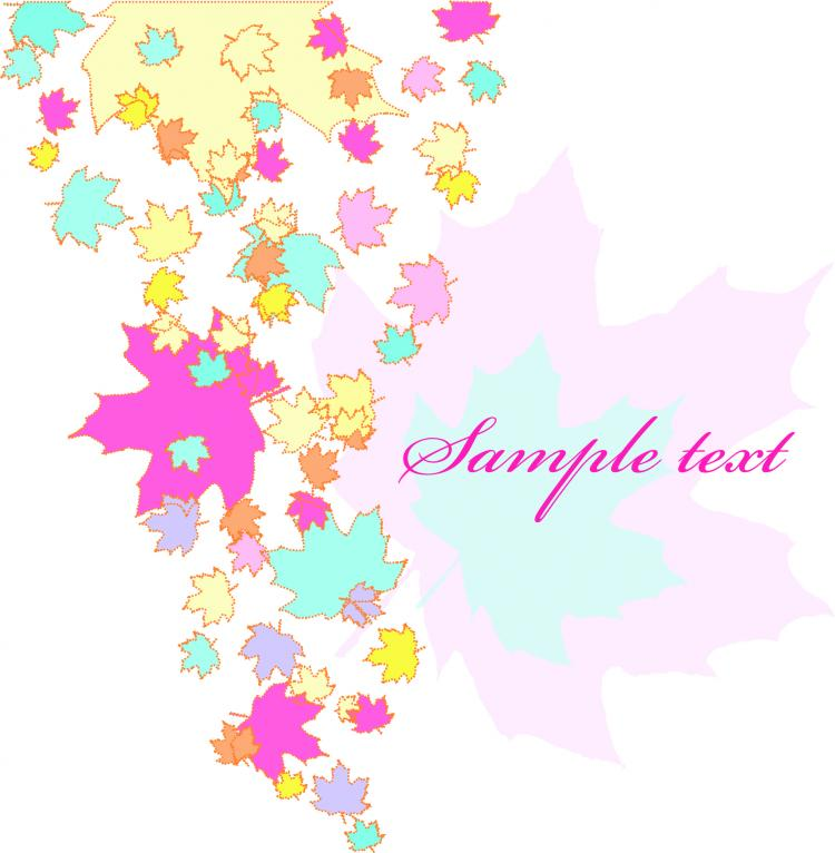 free vector Colorful leaves background vector elements