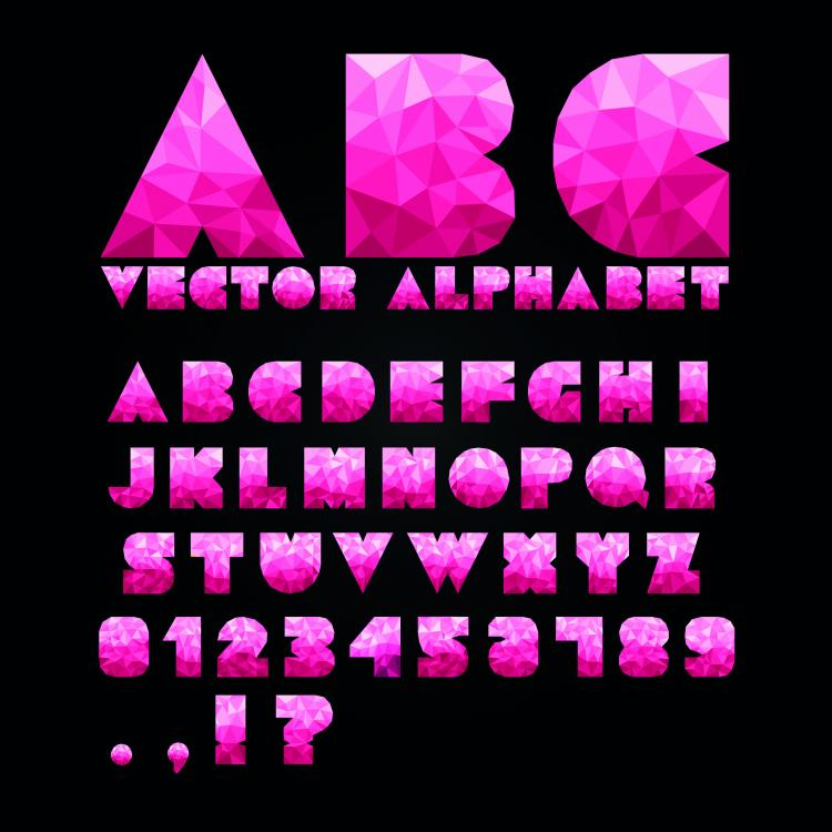 free vector Colorful letters and numbers 03 vector