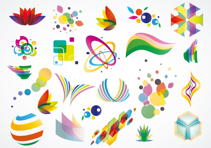 free vector Colorful Logo Design Elements Vector Set